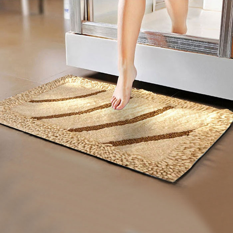 Anti Slip Five Star Hotel Cotton Bathroom Floor Mat Luxury