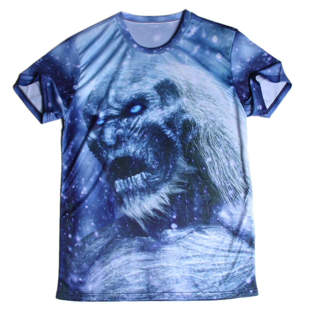 New Brand 3D T Shirts Game of Thrones Printed Men Shirts O Neck Top Tees Casual Wolf Clothing Novelty Style T-shirts(China (Mainland))