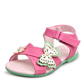 CHA CHA UOVO 2016 New Girls Sandals PU Leather Butterfly Flower Summer Girls Shoes Kids Shoes