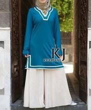 5 colors Islamic Dresses Middle East Women's Tops Dubai Abaya & Muslim Women Dress(China (Mainland))