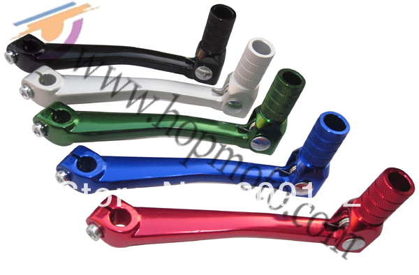 Aluminum gear lever for dirt bike, dirt bike spare parts, brake system free shipping!(China (Mainland))