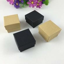 50pcs/lot Fashion High Quality Ribbon Jewelry Box, Paper Ring Boxes, Earrings/Pendant Box 4*4*3 Display Packaging Gift Box(China (Mainland))