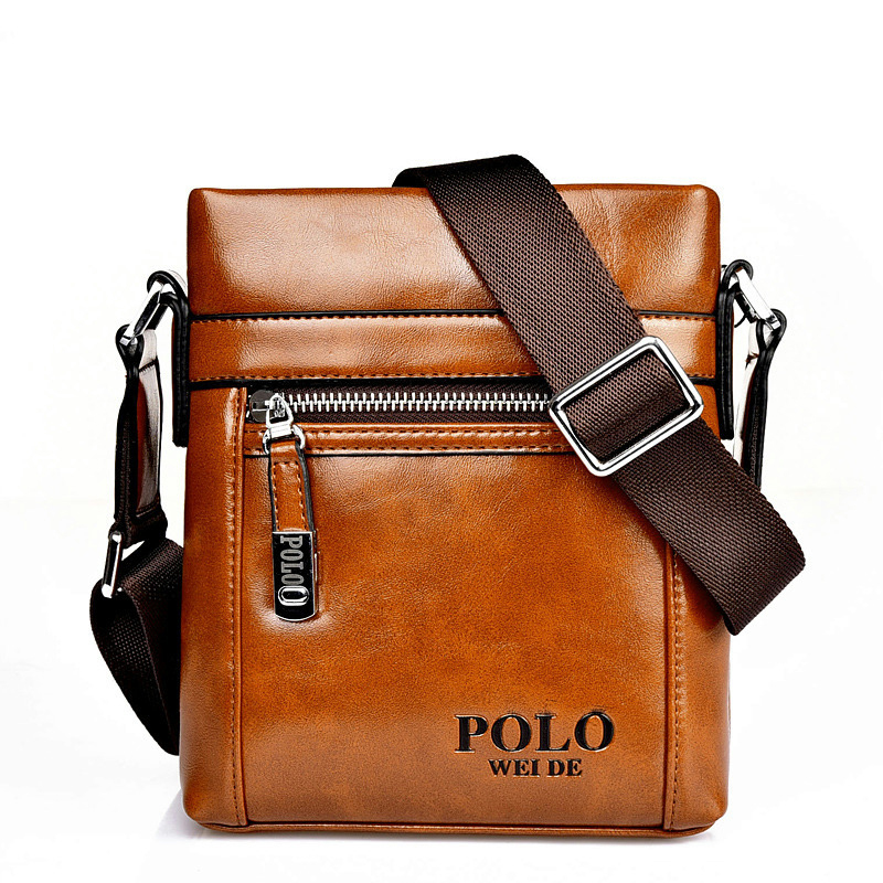 GENUINE LEATHER cowhide Shoulder leisure men's bag business messenger portable casual briefcase POLO bag sacoche homme 217(China (Mainland))