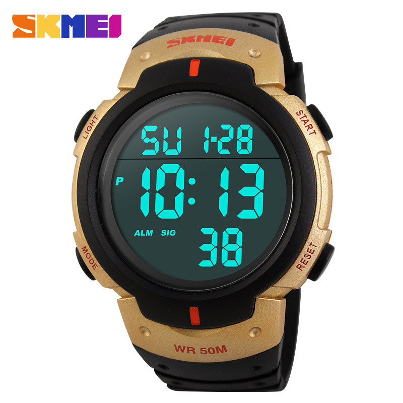 New 2015 Sports Watches Men SKMEI Brand LED Electronic Digital Watch 50ATM Swim Alarm Outdoor Casua Military Army Watch Hot Sell(China (Mainland))