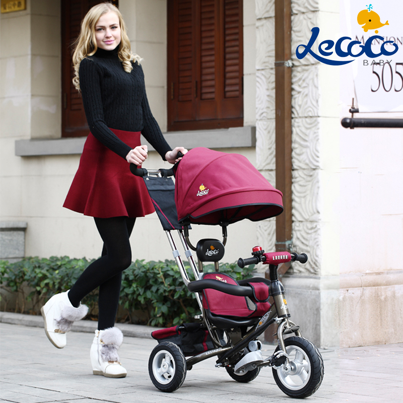 Lecoco 1 - 3 years old child tricycle bike baby bicycle buggiest baby kid trolley(China (Mainland))