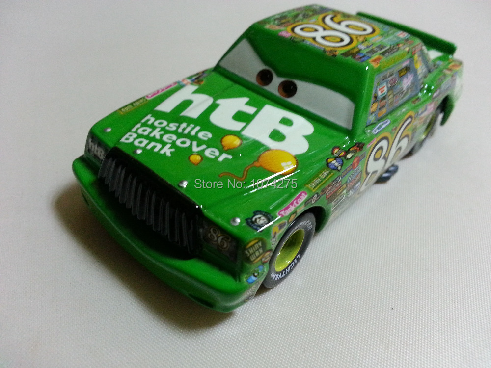 Pixar Cars Diecast No.86 Chick Hicks Metal Toy Car 1:55 Loose Brand New In Stock & Free Shipping(China (Mainland))