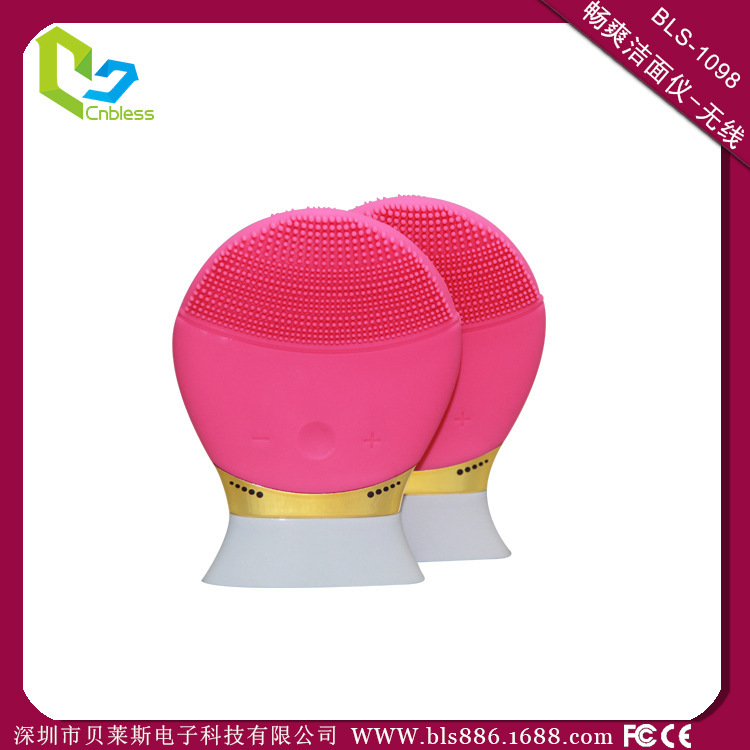 100% authentic quality / smooth cool silicone cleansing instrument / wash brush / pore cleaner / wash artifact(China (Mainland))
