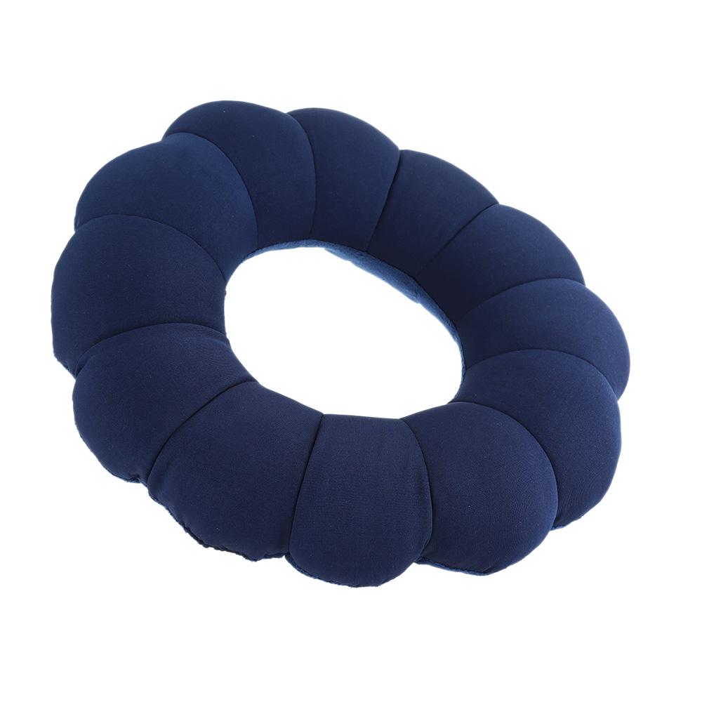 Dark Blue Neck Massage Plum Flower Pillow Amazing Versatile Comfort Portable Travel Pillow Cushion Bolster(China (Mainland))