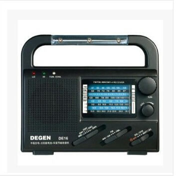 2015 High Quality DEGEN DE16 Digital FM/FML MW SW Crank Dynamo Solar Emergency Solar DE-16 radio World Brand Receiver hand power(China (Mainland))