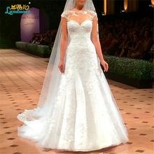 Buy Vestido De Novia Mermaid Wedding Dresses Court Train cap Sleeve Customized Cheap Brides Dress Long Lace Bridal Gown for $203.67 in AliExpress store