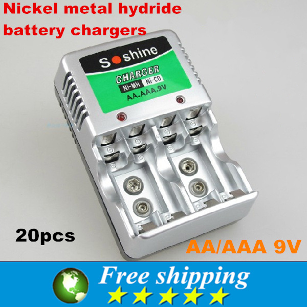 Consumer electronics multi functional charger soshine brand AAA nickel metal hydride rechargeable batteries Free shipping 20X