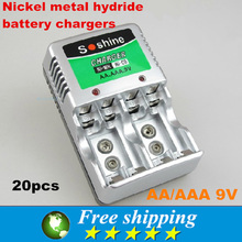 Consumer electronics,multi-functional charger,soshine brand,AAA nickel metal hydride rechargeable batteries,Free shipping.20X
