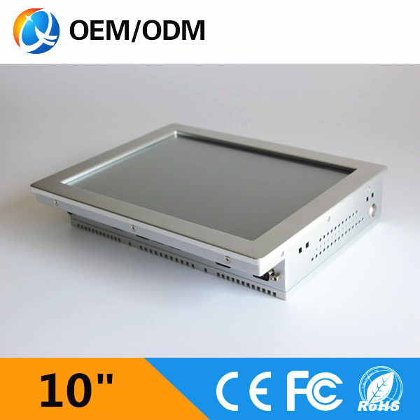 """silver 10"""" industrial pc rs232 mini pc touch screen computer with 2GB RAM 32G SSD(China (Mainland))"""
