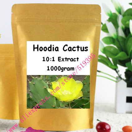 1000gram (35.2oz)  Nature Hoodia Cactus 10:1 Extract Powder free shipping<br><br>Aliexpress