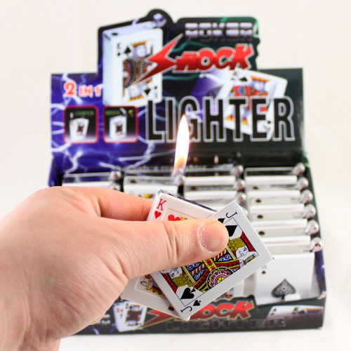 hot sale! Quality! D23 shock toys electric toys electric poker lighter electric lighter 60 christmas party(China (Mainland))