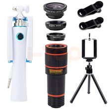 Buy New 12X Telescopic Lens Telephoto Zoom Lenses Wide Angle Macro Fisheye Lentes Mini Selfie Stick iPhone 5s 6s 6 7 Plus Xiaomi for $18.61 in AliExpress store