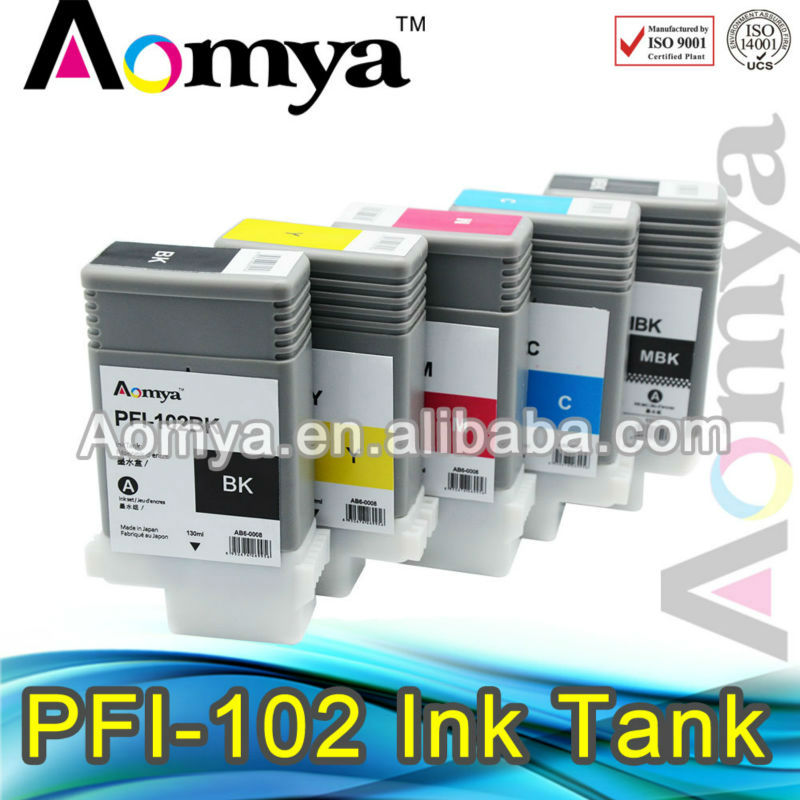 PFI-101 Pigment Ink cartridge for Canon iPF5100 iPF6100 iPF5000 iPF6200 PFI101 ink tank PGY<br><br>Aliexpress