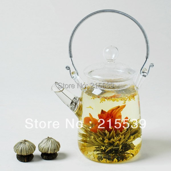 [GRANDNESS] 10pcs Different kinds chinese handmade blooming flower tea, Artistic Blossom flower blooming tea 10 green tea(China (Mainland))