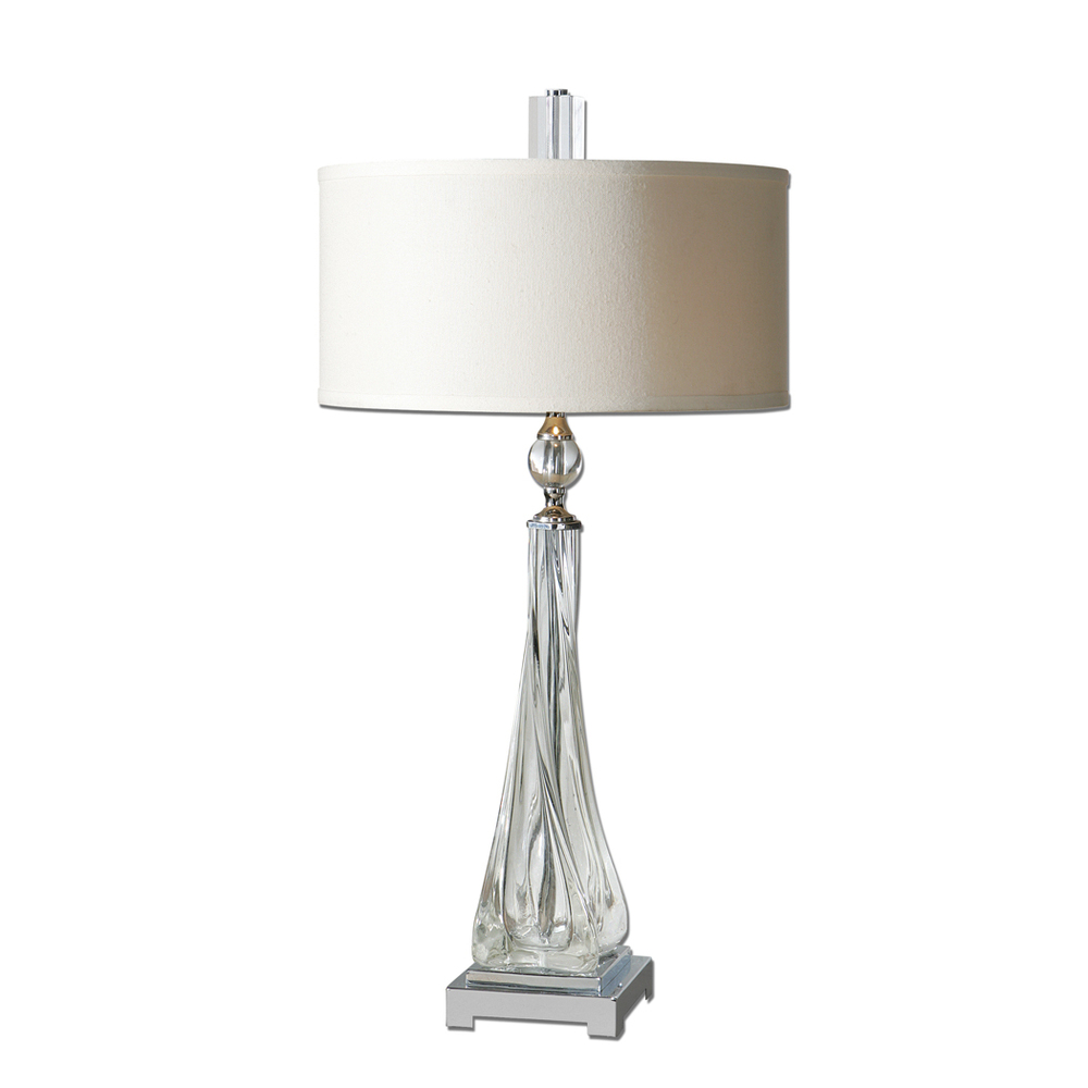 Uttermost neoclassical retro crystal table lamps villa for Living room table lamps