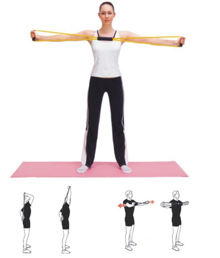 Workout Metal Bands: Tube Workout Exercise Elastic Yoga Resistance Band Fitness