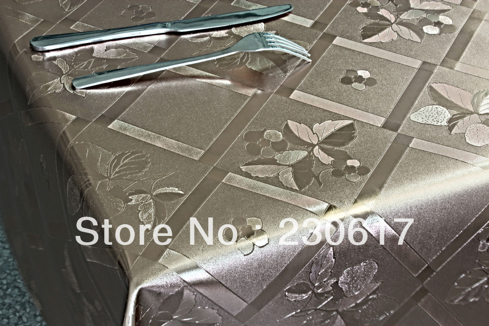 Pw182-037-05-c Polyester Cotton blending Metallic Table top protection Table Cloth also for Dining Table Cover Hotel Table Mats(China (Mainland))