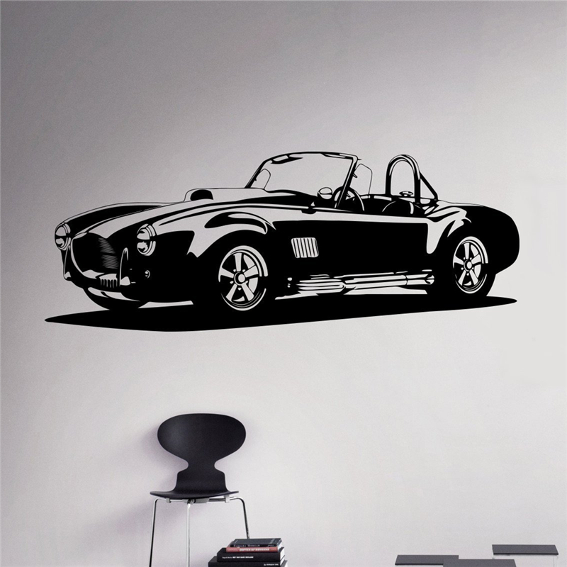 Classic car wall decal racing car vinyl sticker racing car for Cars wall mural sticker