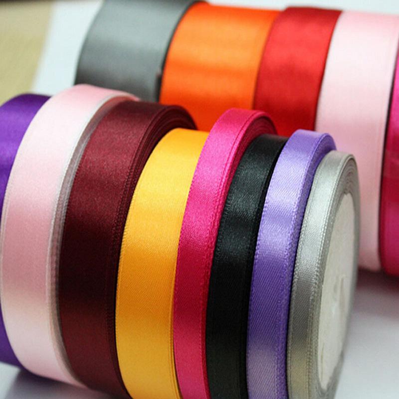 10mm 50 Yards Pretty Silk Satin Ribbon 45.5M Wedding Party Decoration Invitation Card Gift Wrapping Scrapbooking Supplies Riband(China (Mainland))