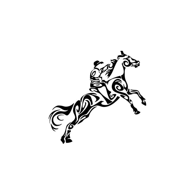 Tribal Cowboy Horse Rodeo Western Car Truck Window Laptop Vinyl Decal Sticker Western & Rodeo Decals Wall Art Sticker Home Decor