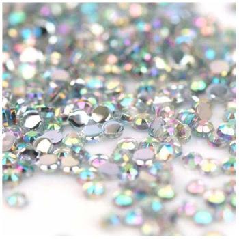 Freeshipping - 10000pcs 1.5mm Iridescent Crystal AB Rhinestones Nail Art Decorations