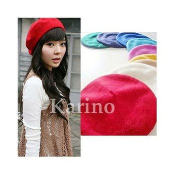 Free Shipping Wholesale Fashion Lady's Cap,Wool Fabric Hat