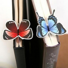 1 Piece classic Butterfly marcador de livro papelaria material escolar paper bookmarks for books markers holder school cute gift(China (Mainland))