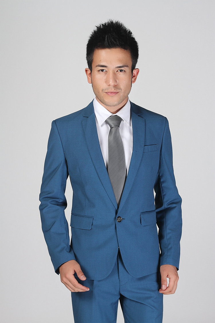 81-Free Shipping New 2015 man suit classic Fashion grooms man suits! Men's Blazer Business Slim Clothing Suit And Pants