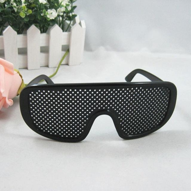 Черный унисекс ухода видение булавка разрез очки болтовое отверстие очки глаз упражнения ...
