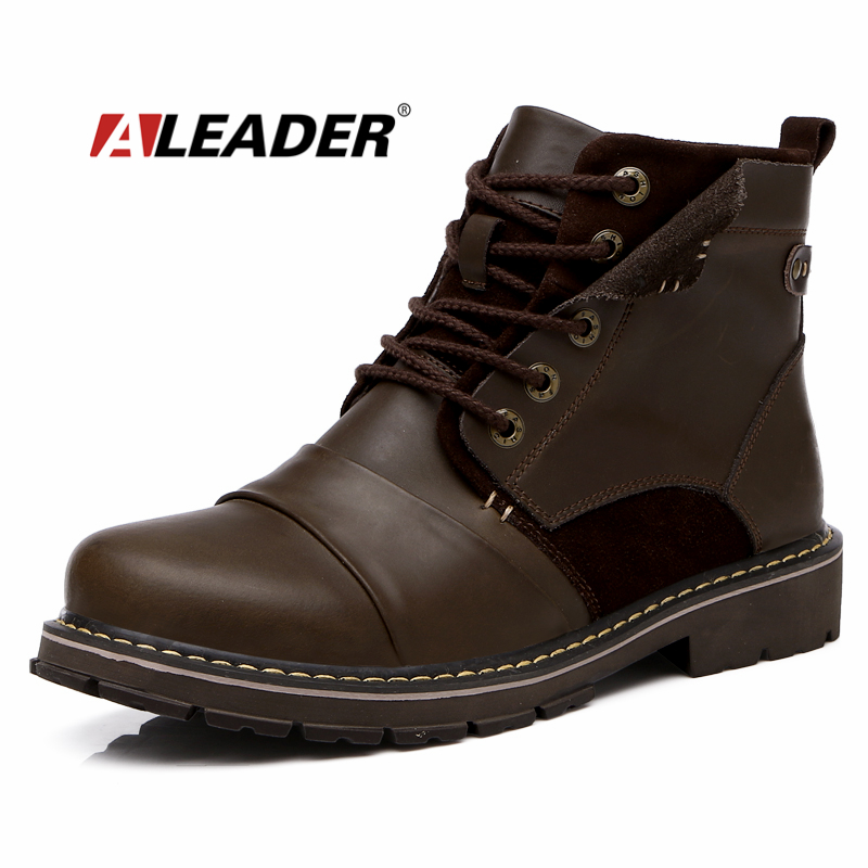 Fashion Mens Autumn Boots Waterproof 2015 Autumn Casual Leather Ankle Boots for Man Western Work Boots Men Shoes Botas masculino<br><br>Aliexpress