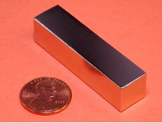 NdFeB Magnet Block 2 x 1/2 x 1/2 thick Strong Neodymium Permanent Magnets Rare Earth Magnets Grade N42 NiCuNi Plated<br><br>Aliexpress