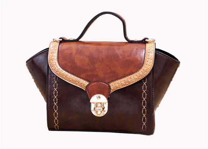 2015 New Arrival Women Vintage Tote Designer Inspire Fashion Trapeze Big Ears Smiley Swing Bag Tricolor Celebrity Handbag BH352(China (Mainland))