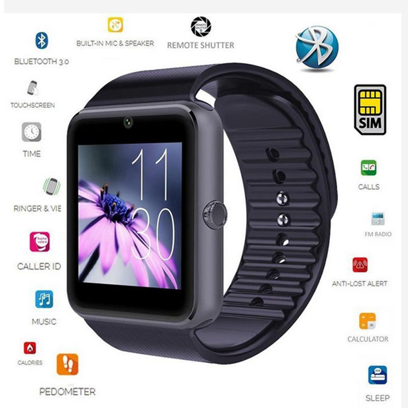 Smart Watch Touch Screen With SIM Cam Phone Passometer Fitness Message push message Reminder Smart Watch for iPhone for Android(China (Mainland))