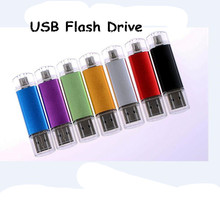 Two-site mobile phone High Quality usb flash drive 4gb 8gb 16gb 32gb 64gb usb flash memory pen drive usb stick Free Shipping