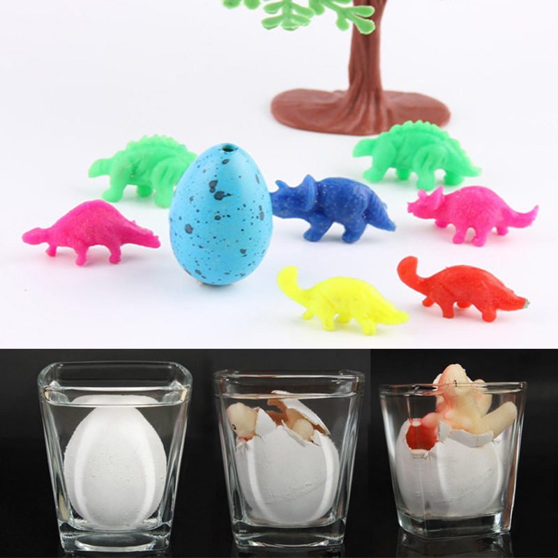 5 Pcs Magic Water Growing Egg Colorful Hatching Add Cracks Grow Eggs Cute Children Kids Toy Boys Novelty Gadget Toy(China (Mainland))