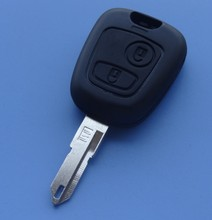 Guaranteed 100 replace case for Peugeot 206 2 button remote key shell car key blank Free