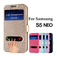 Buy Samsung Galaxy S5 Neo Case,Fashion PU Stand Flip View Windows Leather Cover Case Samsung S5 Neo Mobile Phone Bag Shell for $2.89 in AliExpress store