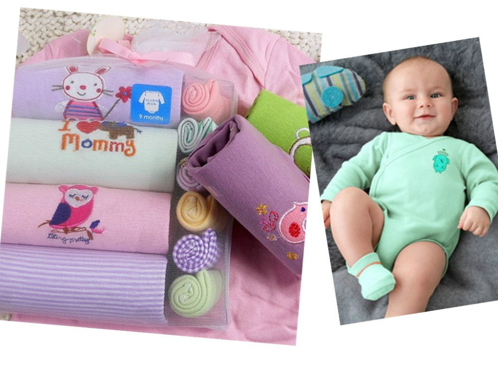 grils boys jumpsuits & rompers baby products 1 cotton newborn short/long sleeve romper+ hand towel - beizhen import and export trade co.,ltd store