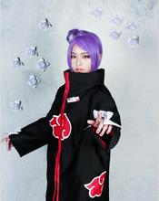 Cos Wig NARUTO Konan Purple & Short Cosplay Costume Wigs+Wig Cap Free Shipping Purple Short Cosplay Costume Wigs