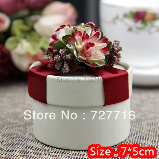 10PCS/LOT Red paper candy box / -Free shipping