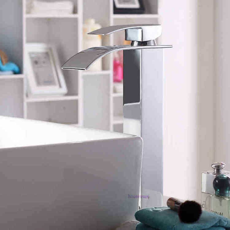 Basin waterfall Faucet New Brand Polished Basin sink waterfall Faucet, single lever single hole Bathroom Waterfall Faucet zx228(China (Mainland))
