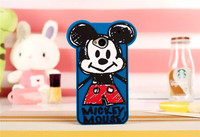 Fashion cute cartoon 3D lovely Minnie Mouse Soft Silicone Cover Back Rubber Case for HTC One M7 802T 802D 802W Dual Sim Cards