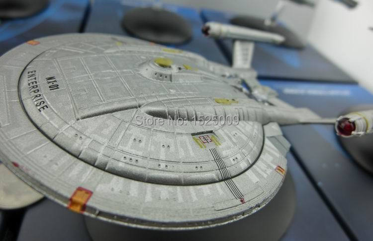 STAR TREK spaceship model enterprise USS Adelphi NCC-1701 NCC-1701-D NX-01 Klingon War Birds Borg Cubesdiecast and ABS(China (Mainland))