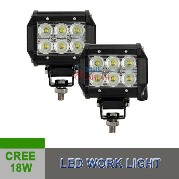 4 Inch 18w Cree Led Headlight Car Lighting 12V 24V Flood Beam Auto Lamp ATV Car Auto SUV 2015(China (Mainland))