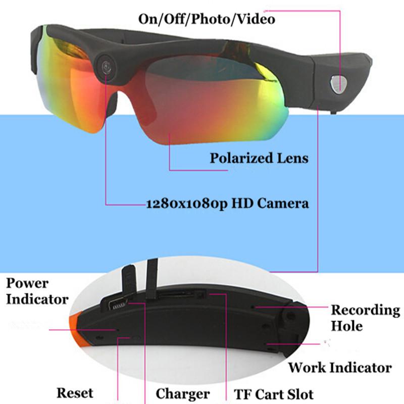 1080P HD video glasses 170 degree wide-angle camera video camera glasses outdoor