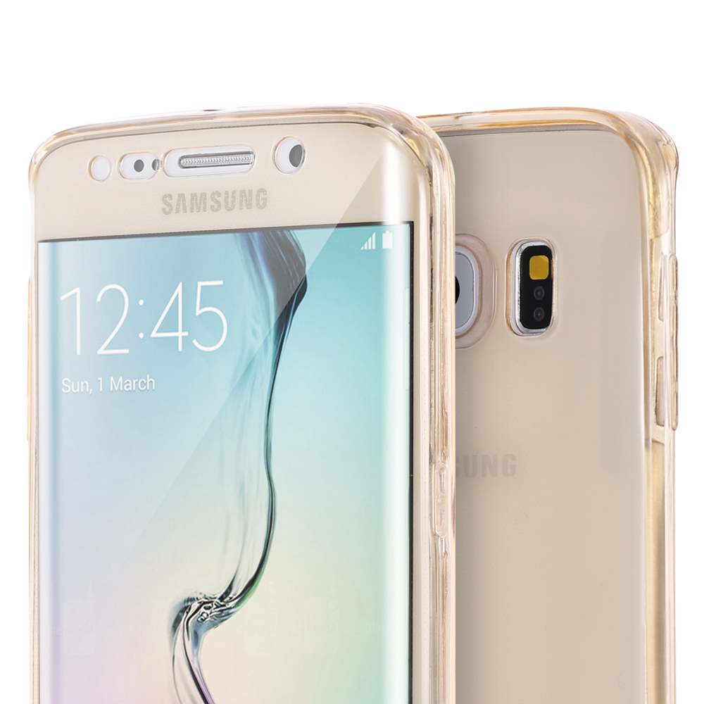 FLOVEME S7 Edge Soft TPU Gel Case For Samsung Galaxy S7 edge Full Body Clear Transparent Smart Touch Screen Cover(China (Mainland))